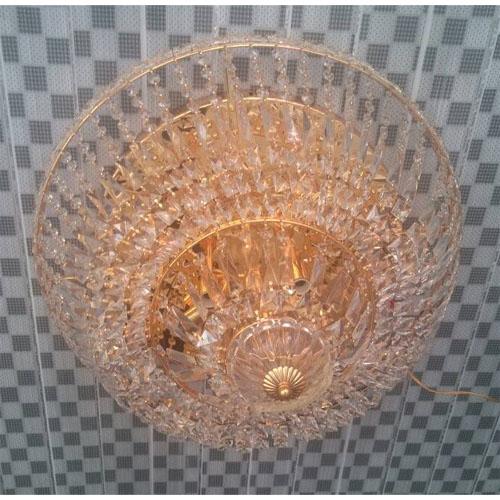crystal flush chandelier