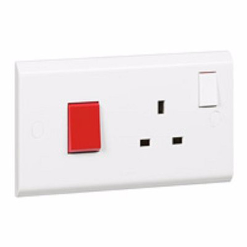 Legrand Cooker-Control-Unit-Belanko---45-A-DP-Switch-Neon-Socket-Outlet-Neon