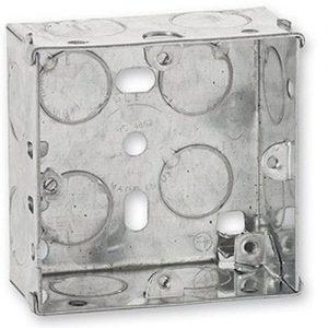Switch-Socket-BoX-Metal-Single-Gang---35mm-10PCS